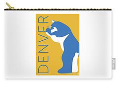 Denver Blue Bear/gold Carry-all Pouch