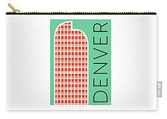 Denver Cash Register Bldg/aqua Carry-all Pouch