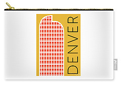 Denver Cash Register Bldg/gold Carry-all Pouch