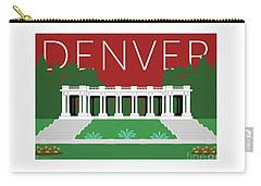 Denver Cheesman Park/maroon Carry-all Pouch