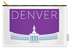 Denver City And County Bldg/purple Carry-all Pouch