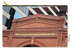 Denver City Cable Rail Way Company Carry-all Pouch