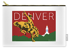 Denver Cowboy/maroon Carry-all Pouch