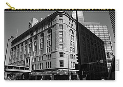 Denver Downtown Bw Carry-all Pouch by Frank Romeo
