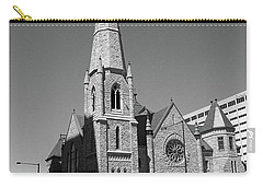 Denver Downtown Church Bw Carry-all Pouch by Frank Romeo