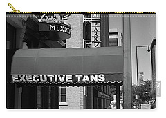 Denver Downtown Storefront Bw Carry-all Pouch by Frank Romeo