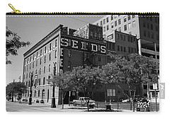 Denver Downtown Warehouse Bw Carry-all Pouch by Frank Romeo