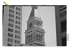 Denver - Historic D And F Clocktower 2 Bw Carry-all Pouch by Frank Romeo