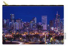 Denver Skyline At Night - Colorado Carry-all Pouch