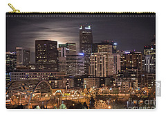 Denver Skyline At Night Carry-all Pouch