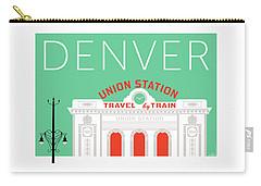 Denver Union Station/aqua Carry-all Pouch
