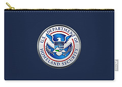 Department Of Homeland Security - D H S Emblem On Blue Velvet Carry-all Pouch