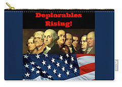 Carry-all Pouch featuring the digital art Deplorables Rising by Rand Swift
