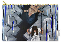 Carry-all Pouch featuring the painting Depression by Teresa Wing