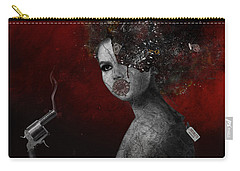 Carry-all Pouch featuring the digital art Deprived by Nola Lee Kelsey