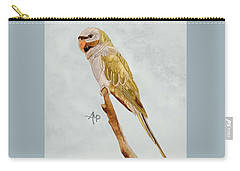 Derbyan Parakeet Carry-all Pouch by Angeles M Pomata