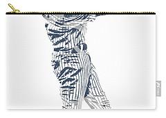 Derek Jeter New York Yankees Pixel Art 10 Carry-all Pouch