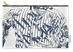 Derek Jeter New York Yankees Pixel Art 12 Carry-all Pouch