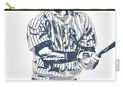 Derek Jeter New York Yankees Pixel Art 13 Carry-all Pouch