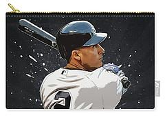 Derek Jeter Carry-all Pouch by Semih Yurdabak