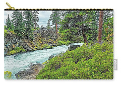 Deschutes River And Falls Carry-all Pouch by Nancy Marie Ricketts