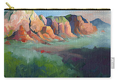 Desert Afternoon Mountains Sky And Trees Carry-all Pouch