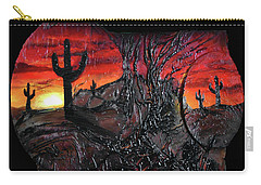 Carry-all Pouch featuring the mixed media Desert by Angela Stout