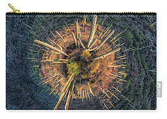 Carry-all Pouch featuring the photograph Desert Big Bang by Lynn Geoffroy