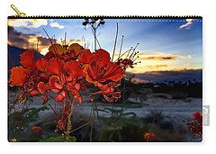 Desert Bird Of Paradise Carry-all Pouch by Chris Tarpening