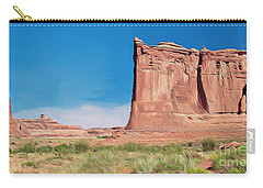 desert Butte Carry-all Pouch by Walter Colvin