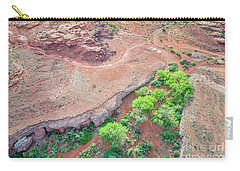 desert canyon in Utah aerial view Carry-all Pouch
