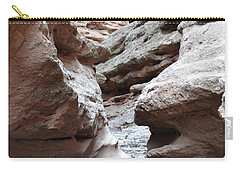 Carry-all Pouch featuring the photograph Desert Canyon Stream by Andrea Hazel Ihlefeld