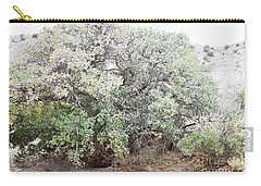 Carry-all Pouch featuring the photograph Desert Canyon Tree by Andrea Hazel Ihlefeld