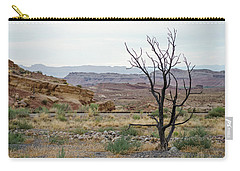 Carry-all Pouch featuring the photograph Desert Colors by Margaret Pitcher