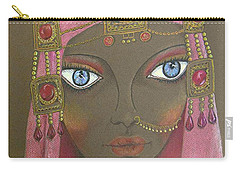 Desert Diva -- Whimsical Arabic Woman Carry-all Pouch