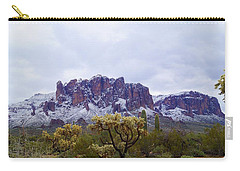 Carry-all Pouch featuring the photograph Desert Dusting by Broderick Delaney