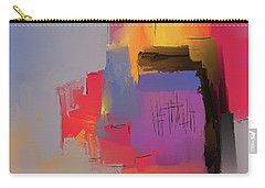 Carry-all Pouch featuring the mixed media Desert Evening by Eduardo Tavares