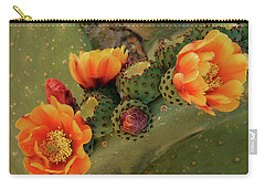 Carry-all Pouch featuring the photograph Desert Flame by Lucinda Walter