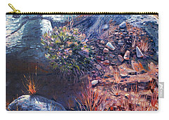 Carry-all Pouch featuring the painting Desert Floor by Donald Maier