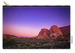 Carry-all Pouch featuring the photograph Desert Grape Rock by T Brian Jones