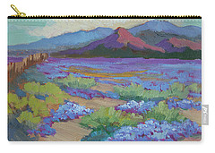 Carry-all Pouch featuring the painting Desert In Bloom by Diane McClary