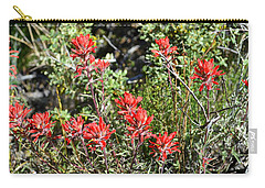Desert Indian Paintbrush - Joshua Tree National Park Carry-all Pouch by Glenn McCarthy Art and Photography