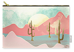Desert Mountains Carry-all Pouch by Spacefrog Designs