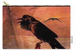 Desert Raven Carry-all Pouch by Mary Hone