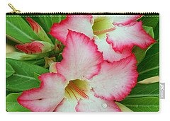 Desert Rose With Buds And Water Carry-all Pouch