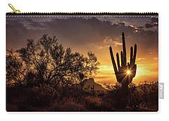 Carry-all Pouch featuring the photograph Desert Skylight  by Saija Lehtonen