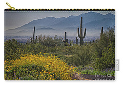 Desert Springtime Carry-all Pouch by Anne Rodkin