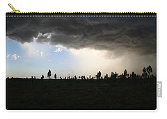 Carry-all Pouch featuring the photograph Desert Storm Near Uluru In The Northern Territory by Keiran Lusk