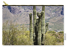 Carry-all Pouch featuring the photograph Desert Strength by Phyllis Denton