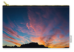 Desert Sunrise Carry-all Pouch by Mary Hone